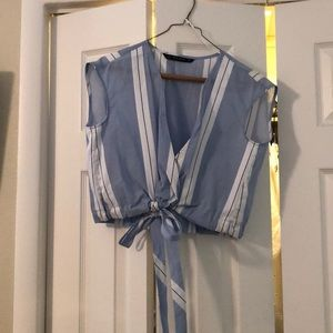 Zara Blue stripe top - XS